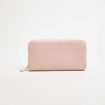 Sasha Long Zip Around Wallet with Heart Puller