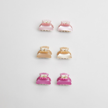 Sasha Glossy Hair Clamp - Set of 6