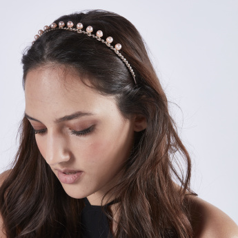 Sasha Pearl Detail Hair Band