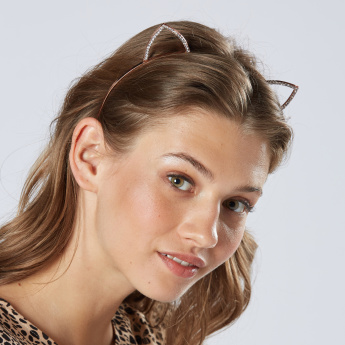 Sasha Cat Ear Design Hair Band with Studded Detail