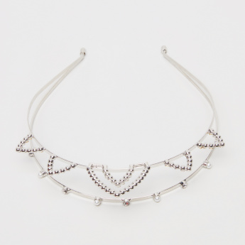 Sasha Embellished Crown Style Hair Band