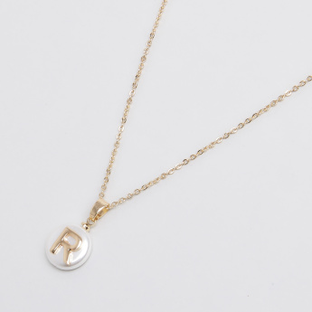 Sasha English Letter R Pendant Necklace