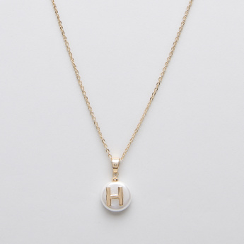 Sasha English Letter H Pendant Necklace