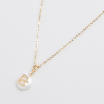 Sasha English Alphabet B Pendant Necklace with Lobster Clasp