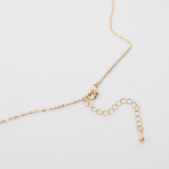 Sasha Arabic Number 7 Pendant Necklace with Lobster Clasp