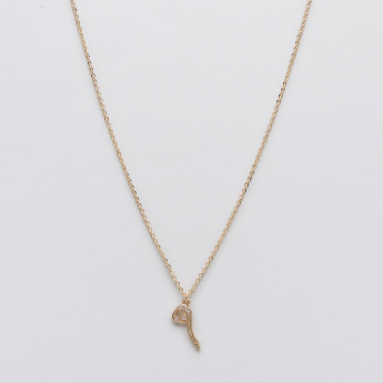 Sasha Arabic Number Nine Pendant Necklace with Lobster Clasp