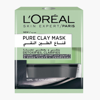 L'Oreal Paris Pure Clay Charcoal Mask - 50 ml
