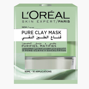 L'Oreal Pure Clay Mask with Eucalyptus - 50 ml