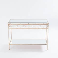 Metallic Rectangular Console Table