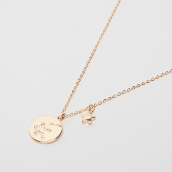 Sasha Aquarius Zodiac Pendant Necklace
