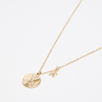 Sasha Studded Pisces Pendant Necklace with Lobster Clasp