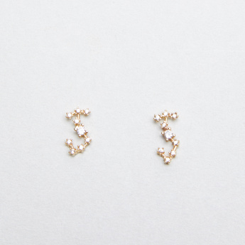 Sasha Studded Scorpio Earrings with Pushback Closure