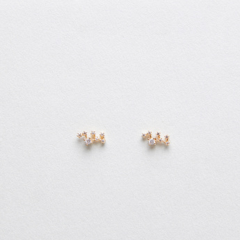 Sasha Virgo Studded Earrings with Pushback Closure