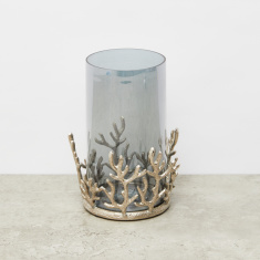 Coral Hurricane Candle Holder - 16x16x24 cms