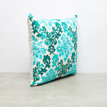 Sabina Embroidered Filled Cushion - 45x45 cms