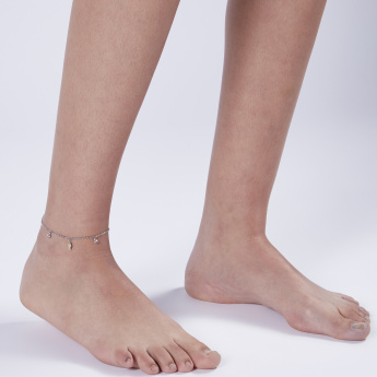 Sasha Charm Anklet with Stud Detail and Lobster Clasp