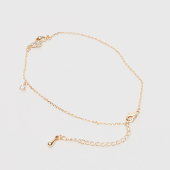 Sasha Anklet with Stud Detail and Lobster Clasp
