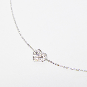 Sasha Heart Studded Anklet with Lobster Clasp