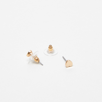Sasha Metallic Earrings with Pushback Closure - Set of 7