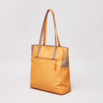 Baggit Printed Shopper Bag with Zip Closure