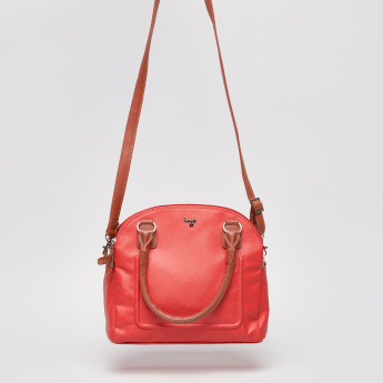 Baggit Dome Bag with Zip Closure and Twin Handles