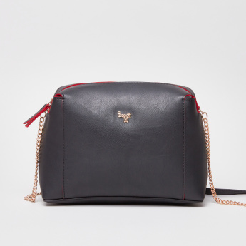 Baggit Crossbody Bag with Metallic Detail Shoulder Strap
