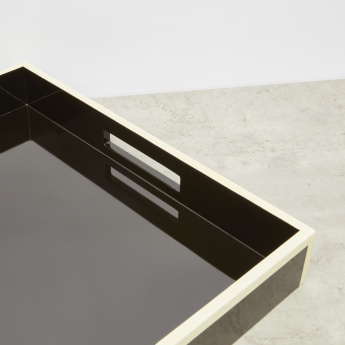 Lacquer Tray with Contrast Trim - 15.8x15.8 cms