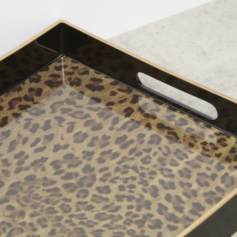 Animal Printed Rectangular Tray - 45.72x29.21 cms