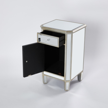 Bevelled Mirrored Cabinet with 1-Door - 18x16x31 cms