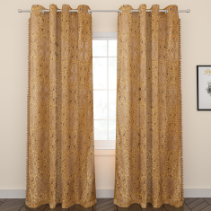 Victoria 2-Piece Curtain Set with Lining and Tassels – 132x260 cms