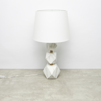 Metalic Glazed Table Lamp - 33x58.5 cms