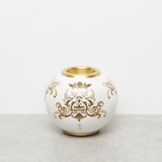 Gold Collection Ceramic Single Tealight Holder – 12x12x10 cms