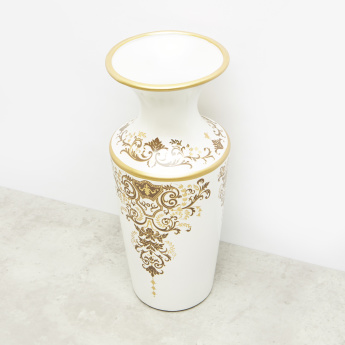 Gold Collection  Printed Vase- 15x15x35 cms