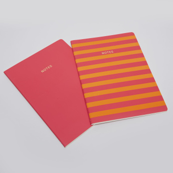 Go Stationery Color Block Notebooks - Set of 2