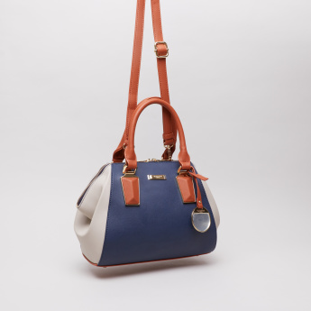 Charlotte Reid Colourblock Duffle Bag with Charm Detail