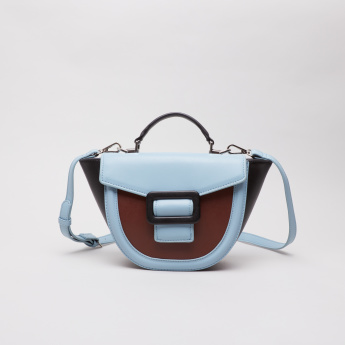 Charlotte Reid Colourblock Satchel Crossbody Bag