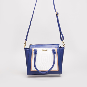 Charlotte Reid Embossed Tote Bag with Zip Closure