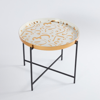 Arabic Calligraphy Collection Ceramic Tray with Stand - 50x41 cms