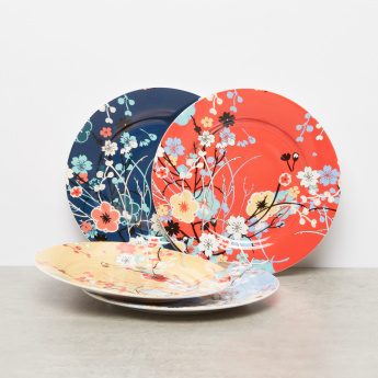 Cherry Blossom Print 4-Piece Side Plates - 19 cms