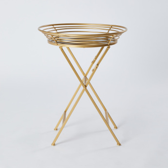 Metallic Glazed Accent Table Tray with Mirror Top - 66x51 cms