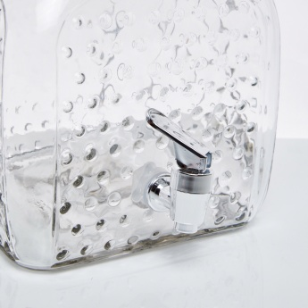 Square Bottom Hobnail Beverage Dispenser with Spigot