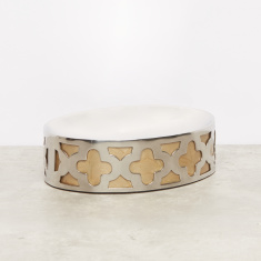 Metallic Enamel Soap Dish
