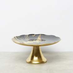 Circular Printed Decorative Cake Stand - 25 cms