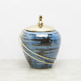 Glossy Ceramic Jar with Lid