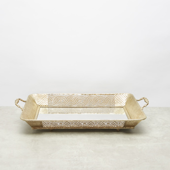 Metallic Mirrored Tray - 57.5x33 cms