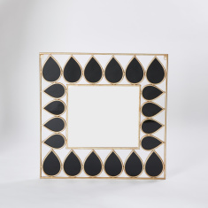 Teardrop Design Wall Mirror - 78x78 cms