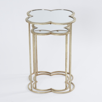 Metallic Glazed Accent Table - Set of 2