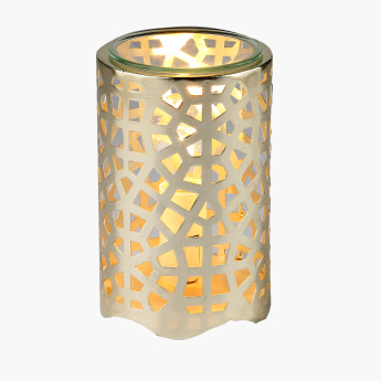 Electric Cutout Design Oil Burner with Glass Lid - 9x9x14 cms