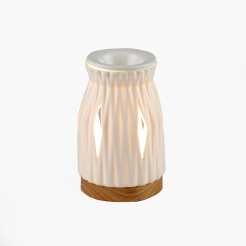 Ceramic Electric Oil Burner with Wooden Base
