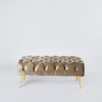 Tufted 2-Seater Bench - 100x50x42 cms